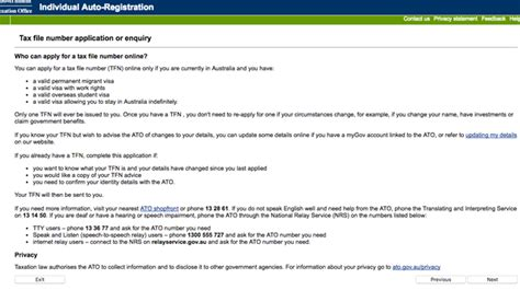 ato tfn application form how to get a tax file number tfn online tutorial