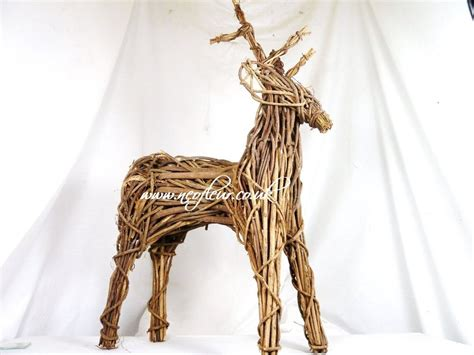 outdoor indoor willow wicker reindeer christmas display