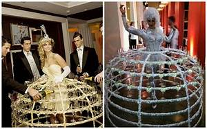 unique wedding ideas champagne dresses and aerial bartenders With unique wedding videos