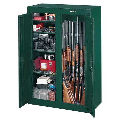 stack on gun cabinet shelves stack on 16 gun double door security cabinet hunter
