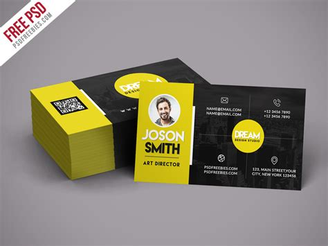 Business Card Psd Creative Design Studio Business Card Template Psd