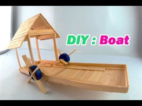 How To Make A Boat Using Craft Sticks by Diy Boat Using Popsicle Sticks Youtube