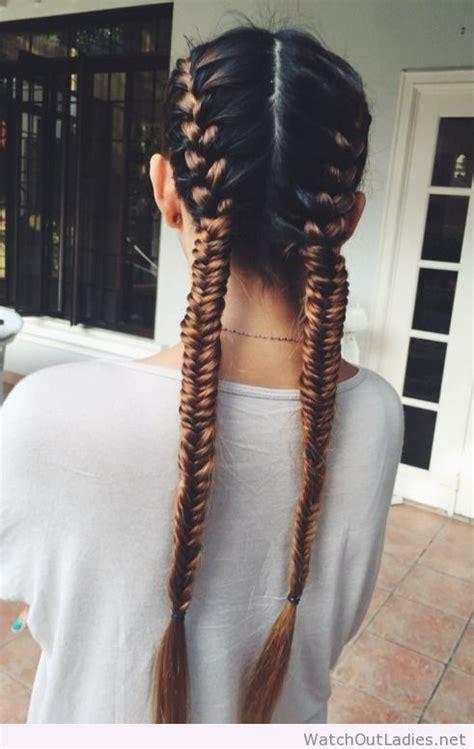 fishtail braids hairstyles pinterest  hair