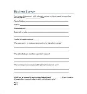 Business Survey Template Free