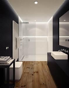 Dusche Mit Glaswand : ebenerdige dusche mit glaswand in wei durch beleuchtung betont badezimmer badezimmer ~ Orissabook.com Haus und Dekorationen