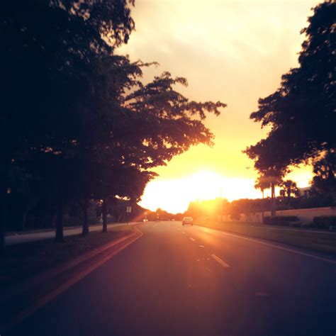 stay aware  driving  sunrise  sunset lanes