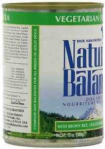 Natural Balance Canned Dog Food, Vegetarian Recipe, 12 x