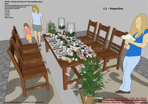 home garden plans ds dining table set plans