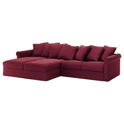 GRÖNLID Sectional 4 seat with chaise Sporda natural