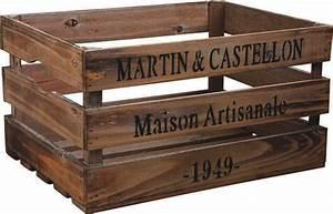 Caisse En Bois : caisse en bois maison artisanale ~ Nature-et-papiers.com Idées de Décoration