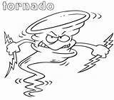 Tornado Cartoon Angry Coloring Printable Categories sketch template