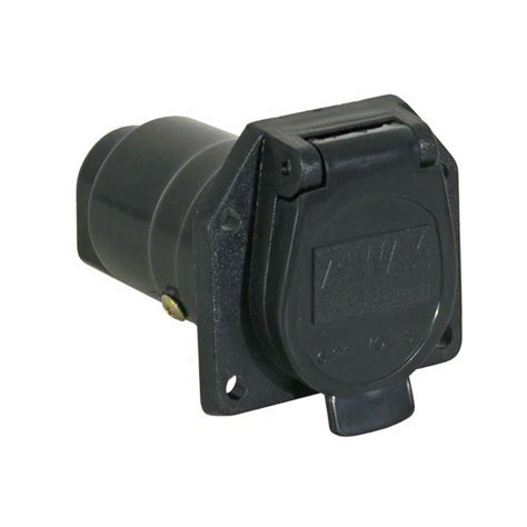 truck trailer connector buyers tc1007p 7 pin flat plastic truck end trailer