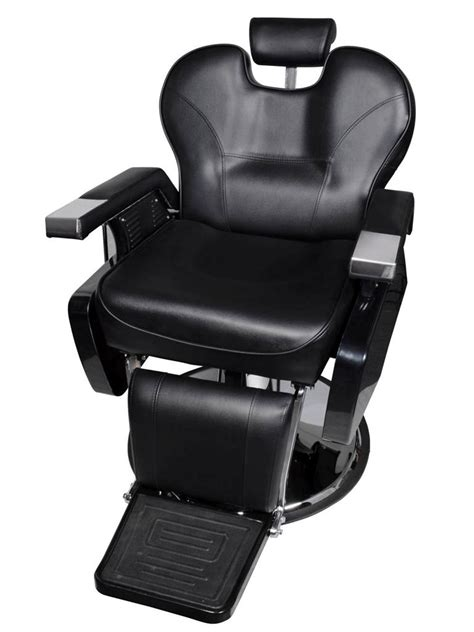 black heavy duty fashion hydraulic barber chair recline