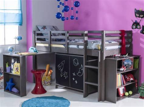 lit avec bureau pour fille lit mezzanine bureau pour fille visuel 7