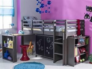Lit Bureau Fille : lit mezzanine bureau pour fille visuel 7 ~ Teatrodelosmanantiales.com Idées de Décoration
