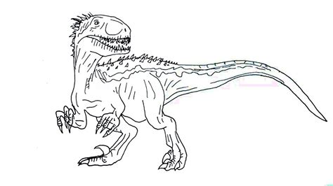 scary indoraptor coloring page  printable coloring