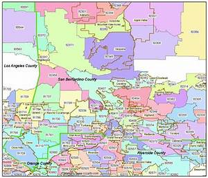 San Bernardino Zip Codes - Ontario Zip Code Boundary Map