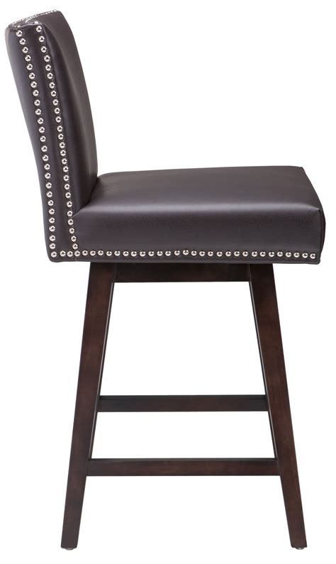 vintage counter stool vintage swivel counter leather stool in brown from sunpan 3180