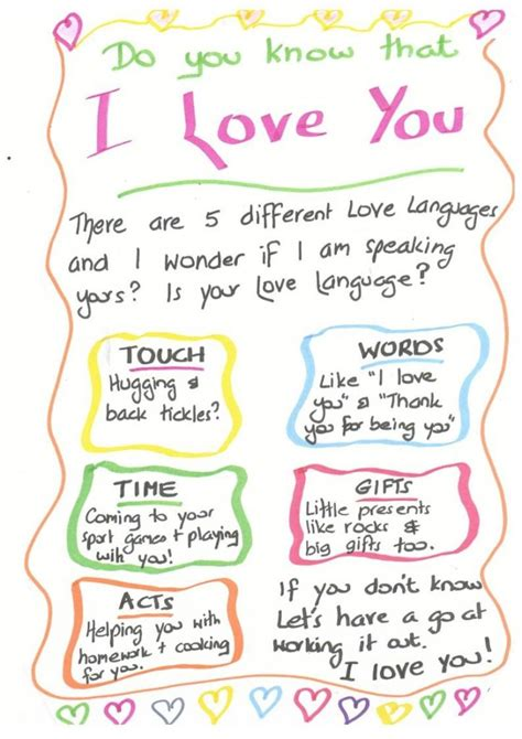 5 forms of love 13 best images about 5 love languages on pinterest