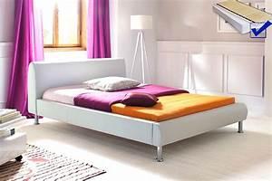 Betten 140x200 Weiß : polsterbett mirco 140x200 wei kunstleder rost matratze singlebett wohnbereiche schlafzimmer ~ Eleganceandgraceweddings.com Haus und Dekorationen