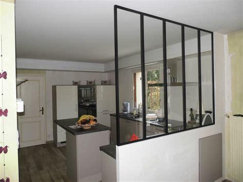 separation cuisine separation vitree entre cuisine et salon maison design