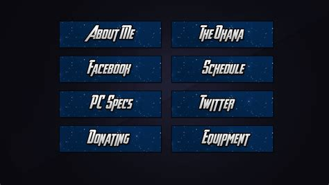 Twitch Panel Template Twitch Streamer Azureninja Twitch Panels Speedart