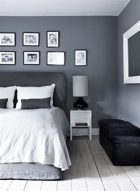 grey bedroom could add a splash of teal or orange