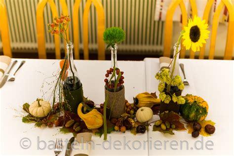 Herbstliche Dekorationen Für Den Tisch by Herbstliche Tischdekoration F 252 R Den Geburtstag Basteln