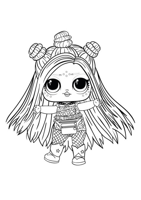 lol surprise dolls coloring pages print      series   bee coloring
