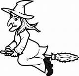 Witch Broom Clipart Flying Drawing Clipartmag sketch template