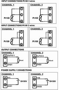 Dual Channel Rtd Pt100 Temperature Converter Dat2166