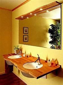 salle de bain plan de travail de salle de bain classique With plan de travail bois salle de bain