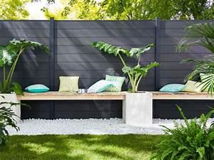 une cloture esthetique pour delimiter mon jardin cloture With brise vue avec jardiniere 10 brise vue blooma