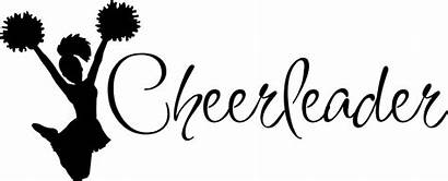 Cheerleader Cheer Cheerleading Clipart Decal Word Words