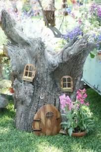 Tree Stump Fairy House From Garden