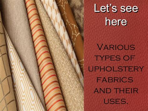 types  upholstery fabric  furniture
