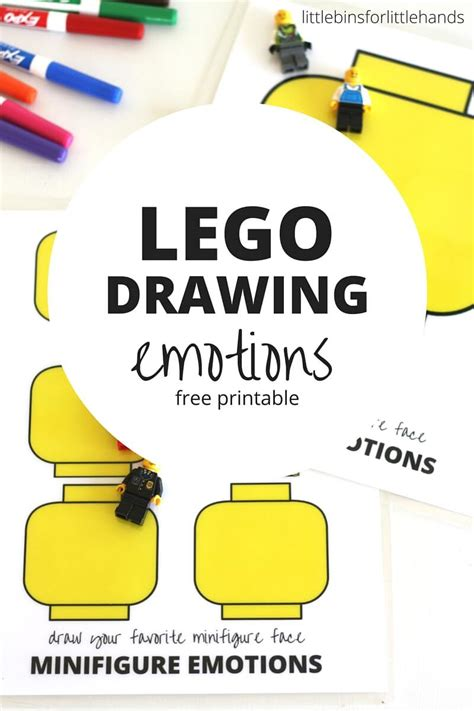 lego minifigure drawing emotions activity for