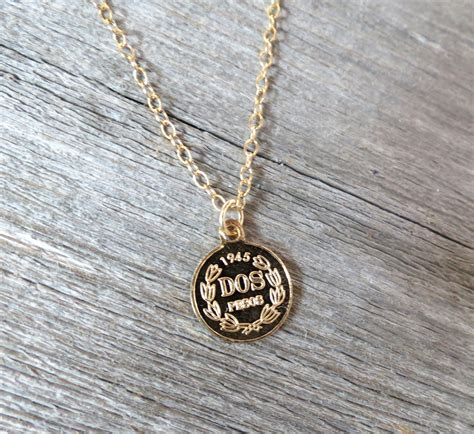 Men Necklace - Men Gold Necklace - Men Coin Necklace - Men
