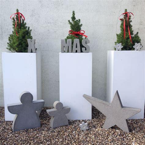 beton deko weihnachten beton weihnachten diy beton deko