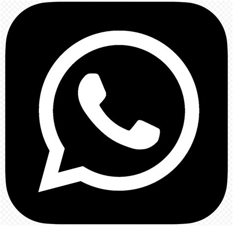 HD Black And White WhatsApp Whats App Square Logo Icon PNG ...