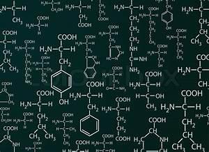 Chemistry Formulas On Dark Green Desk