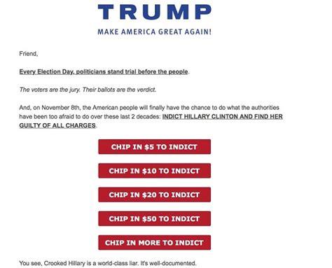 trump email hillary letter fundraising probe fix tweet addresses secretary former state wnd