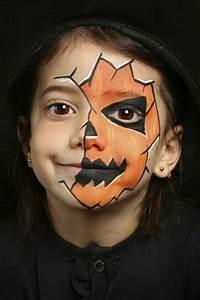 Visage Citrouille Halloween : l halloween approche trouvez le meilleur maquillage pour enfants obsigen ~ Nature-et-papiers.com Idées de Décoration