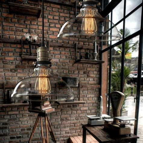 country style hanging light fixtures vintage american country style industrial clear and amber
