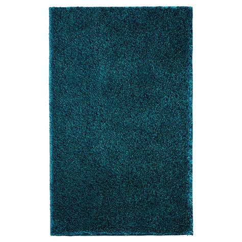 tapis shaggy bleu turquoise maison design hosnya