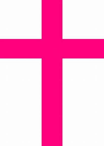 Cross Pink Clip Clipart Vector Royalty Clker