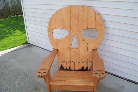 skull adirondack chair plans skull chair by mikede lumberjocks woodworking