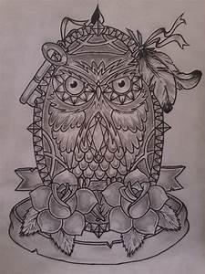 Owl Tattoo Sketch by misho95 on DeviantArt