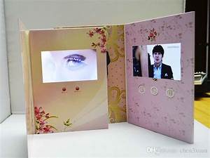 sample order digital lcd video brochure greeting card for With wedding invitation with lcd