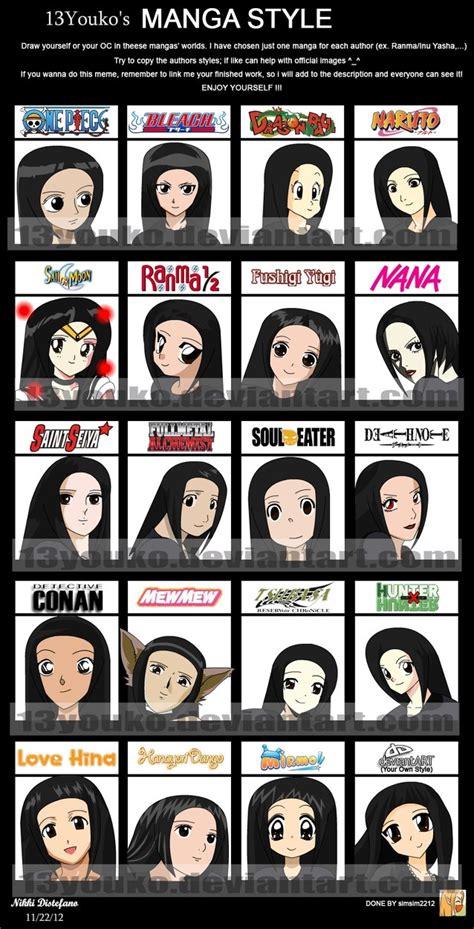 anime style meme by 13youko on deviantart